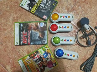 juegos y auriculares de Xbox 360 lote