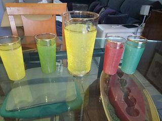 juego de jarras y vasos Vintage