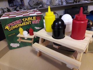envases de condimentos para cocina o picnic