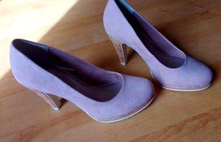 Zapatos de ante Rosa Palo Nº37