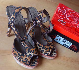 Sandalias estampado Leopardo Nº37
