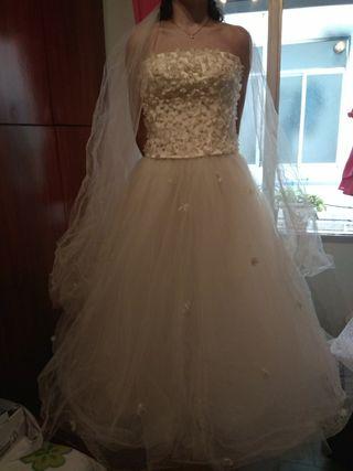 vestido de novia de segunda mano en cádiz en wallapop