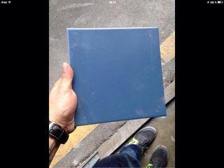Baldosas azules 2m 4euros