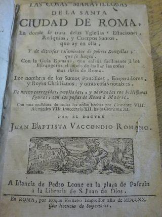 Libro antiguo 1720