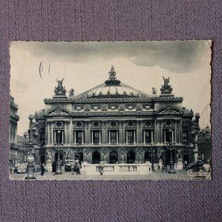 Antigua tarjeta postal Paris año 1954