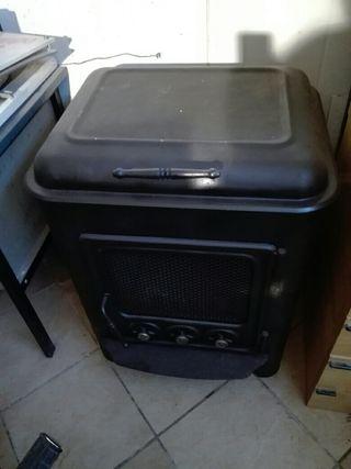chimenea estufa de leña con horno