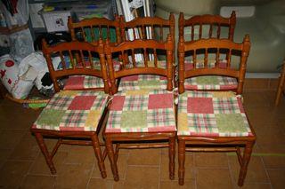 conjunto de sillas
