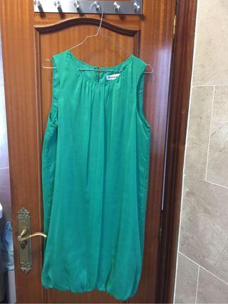 Vestido globo verde