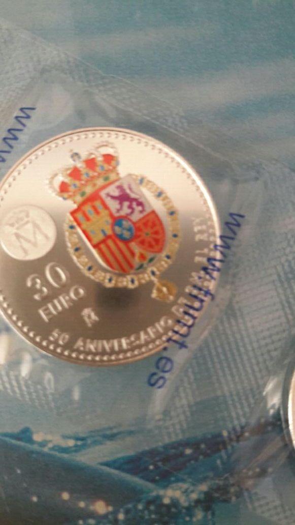moneda conmemorativa plata 50 cumpleaños felipe vi