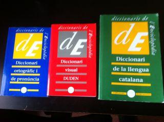 3 Diccionaris En Catala, Visual Pronuncia I Ortografic Enciclopedia Catalana 1990 1992