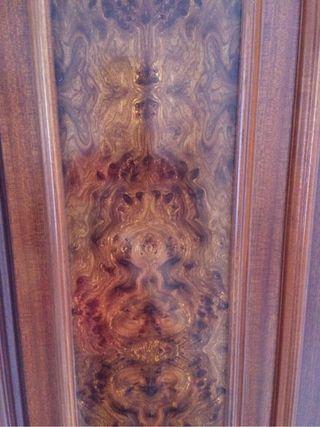 6 puertas de armario con altillo de raíz macizas
