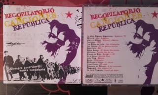 Cd recopilatorio Canciones de la República
