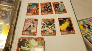 Cambio cartas Dragon ball power level. Tngo muchas