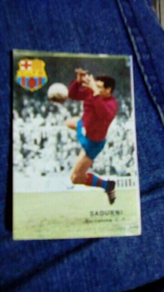 Cromo Sadurní liga 1967/68 F. C. Barcelona