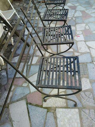 sillas de forja