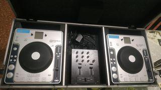 """""""Equipo DJ"""" 2CDJ's Stanton C313, Mixer y Fill Case"""