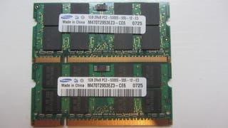 2GB 2X1GB Memoria RAM SAMSUNG PC2-5300
