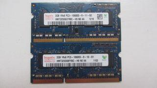 4GB 2X2GB Memoria RAM HYNIX PC3-10600S