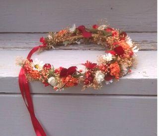 corona de flores para bodas