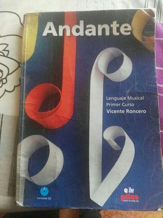 libro musica Andante de primero
