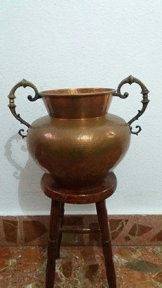 jarrón de cobre de los años 70