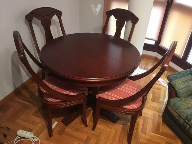 Mesa de comedor madera maciza extensible nueva de segunda ...