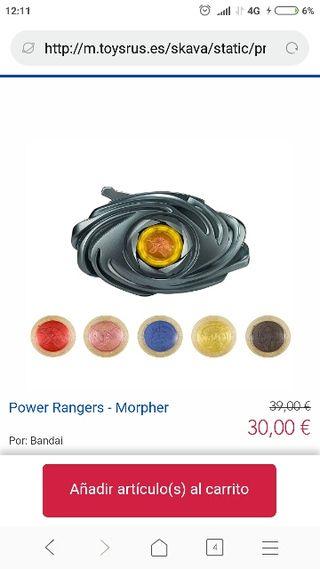 Juguete sin estrenar. Power Rangers Morpher Bandai