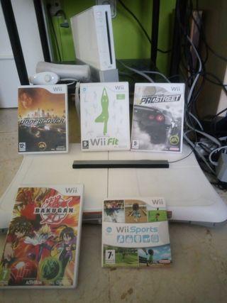 Consola wii +tabla + juegos