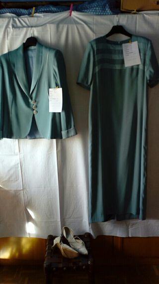 talla grande vestido y chaqueta madrina/boda