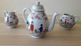 Juego de té (tetera) porcelana china