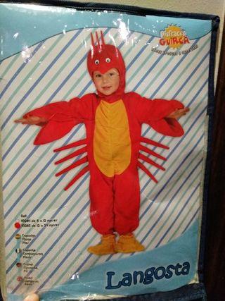 Disfraz cangrejo 12 a 24 meses