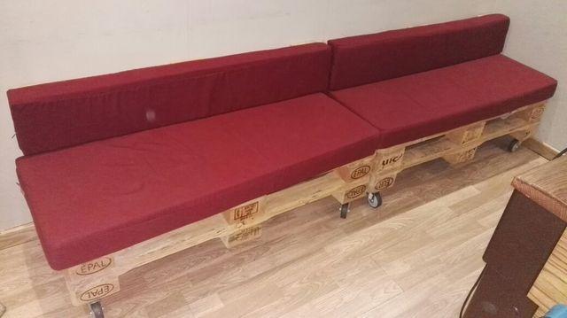 sofás madera palet