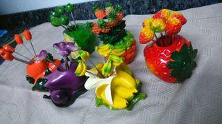 Detalles figuras pintxos de frutas