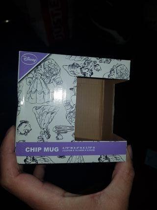 Caja taza chip bella y bestia