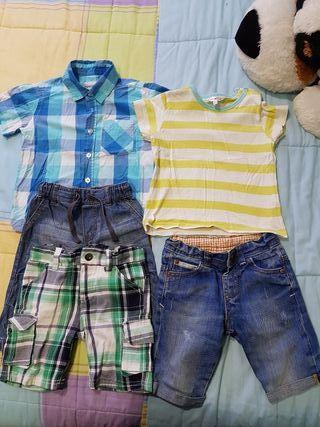 camisa.nike.pantalon corto niño talla dos años
