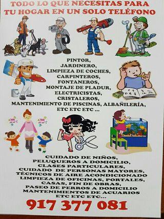 TODO TIPO DE PROFESIONALES PARA TU HOGAR