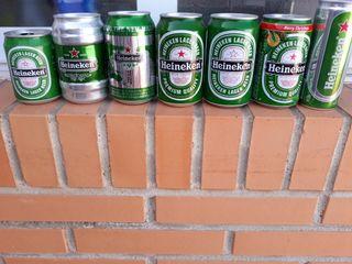Latas VACÍAS de cerveza, colección