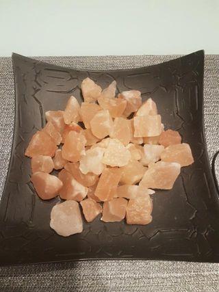 Centro de mesa piedras de sal