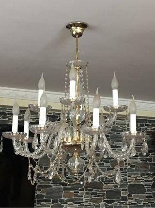 Dos lámparas de cristal de Bohemia