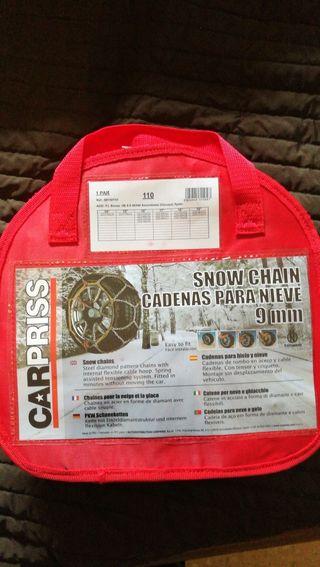 cadenas para nieve sin estrenar