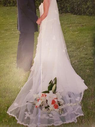 Vestido de novia + velo