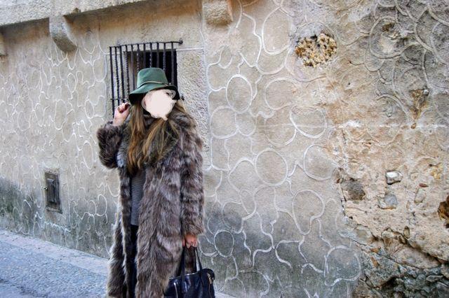 Abrigo piel marmota