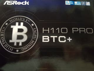 PLACA BASE ASROCK H100 PRO BTC+ MINING 13 GPU