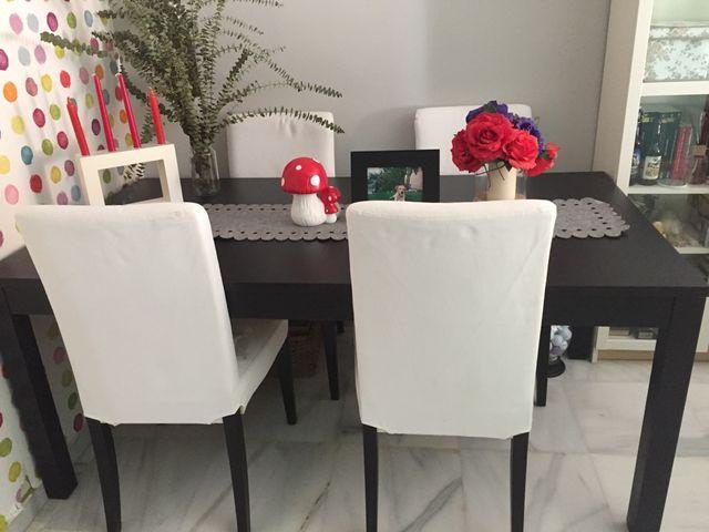 Mesa comedor ikea + 4 sillas de segunda mano por 199 € en Rincón de ...