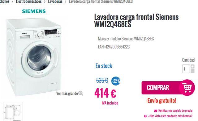 Lavadora Siemens WM12Q468ES