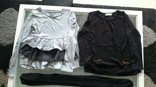 2 camisetas ñiña ZARA +botas ZARA
