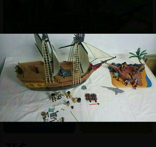 barco y isla de playmobil