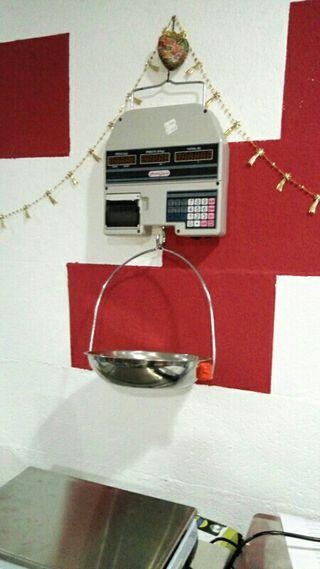 balanza de colgar,bascula con ticket,peso hasta 30