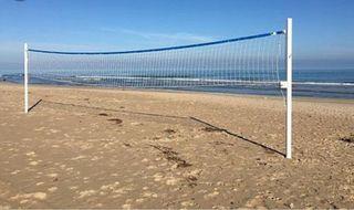 lote material voley playa , pelotas ,red, lineas.