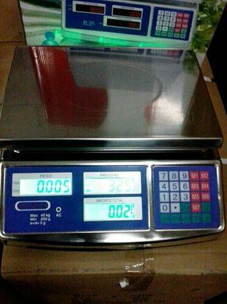 balanza acero inox 40kilos.bascula nueva